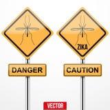 Zika virus warning sign Stock Photography