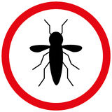 Zika virus warning symbol Royalty Free Stock Photo