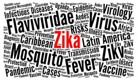 Zika virus word cloud concept. Illustration Stock Photography