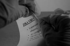 Zika wirusa wybuch Obrazy Royalty Free