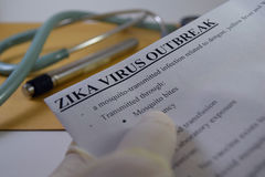 Zika wirusa wybuch Obraz Royalty Free