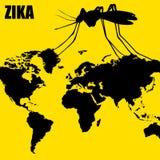 Zika wirusa zagrożenie ilustracja wektor