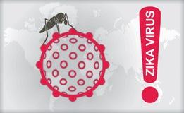 Zikavirus met Alarm vector illustratie