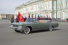 ZIL-117V Preparación para el ensayo del desfile en honor del día de la victoria en St Petersburg Imágenes de archivo libres de regalías