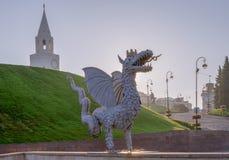 Zilant drake Kazan stad, Ryssland fotografering för bildbyråer