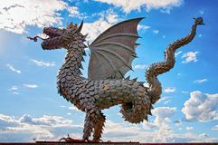 Zilant. Kazan, Russia - June 19, 2013: Statue to Zilant, legendary winged snake creature, something between a dragon and a wyvern. Since 1730, it has been the stock photos