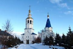 Zilant monastery and church Russia, Kazan. Zilant monastery - oldest orthodox building - white church Russia, Kazan Royalty Free Stock Photography