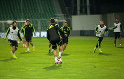 ZILINA,斯洛伐克- 2014年10月8日:西班牙国家队球员 免版税库存照片