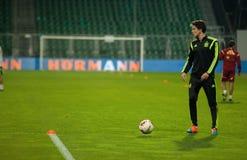 ZILINA,斯洛伐克- 2014年10月8日:西班牙国家队球员 免版税库存图片