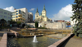 Zilina. Panorama photo of Renaissance church in Zilina, Slovakia, Central Europe Royalty Free Stock Photos