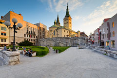 Zilina. Main church in the city of Zilina in central Slovakia royalty free stock photography