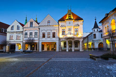 Zilina. Main square in the city of Zilina in central Slovakia stock photo