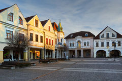 Zilina. Main square in the city of Zilina in central Slovakia royalty free stock photos
