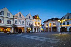 Zilina. Main square in the city of Zilina in central Slovakia royalty free stock images