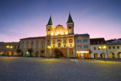 Zilina. Main square in the city of Zilina in central Slovakia royalty free stock photography