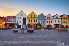 Zilina. Main square in the city of Zilina in central Slovakia royalty free stock photo