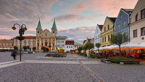 Zilina. Main square in the city of Zilina in central Slovakia stock photos