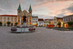 Zilina. Main square in the city of Zilina in central Slovakia stock images
