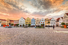 Zilina. Main square in the city of Zilina in central Slovakia royalty free stock image