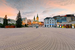 Zilina. Main square in the city of Zilina in central Slovakia stock image
