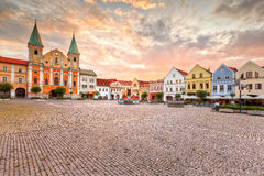 Zilina. Main square in the city of Zilina in central Slovakia. HDR image stock photography