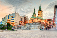 Zilina. Main square in the city of Zilina in central Slovakia. HDR image stock photos