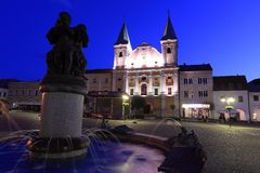 Zilina at night Stock Photo