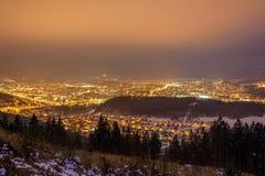 Zilina par nuit Photos libres de droits