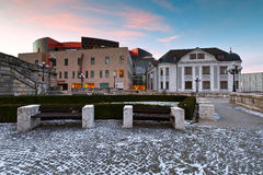 Zilina. Square in the city of Zilina in central Slovakia stock image