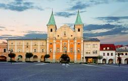 Zilina stad - Slovakien, Marianske fyrkant royaltyfri foto