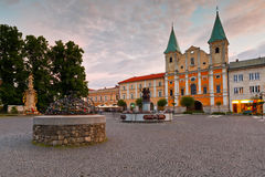 Zilina. Town hall in the main square of Zilina in central Slovakia stock images