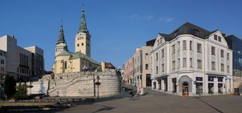 Zilina - Trinity Cathedral Royalty Free Stock Photography