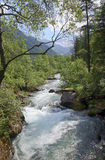 Ziller River in the Zillergrund, Austria Royalty Free Stock Photography