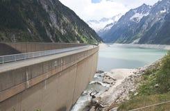 Zillergründl Dam and the Schlegeis Reservoir, Aus Stock Photo