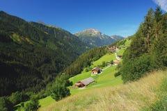 Zillertal, alpi austriache Fotografia Stock Libera da Diritti