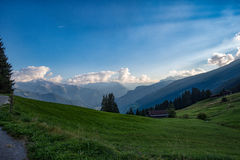 Zillertal in the Alps in Tyrol, Austria stock images