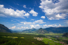 Zillertal, Austria. A panorama view of Zillertal, Austria Royalty Free Stock Images
