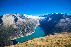 Zillertal in Austria. Landscapes in the Zillertaler Alps in Austria Royalty Free Stock Image