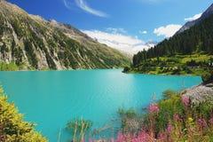 Zillertal, cumes austríacos Foto de Stock