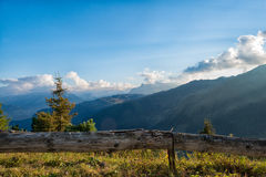 Zillertal nelle alpi nel Tirolo, Austria Fotografia Stock Libera da Diritti