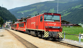 Zillertalbahn  at station Stock Photo