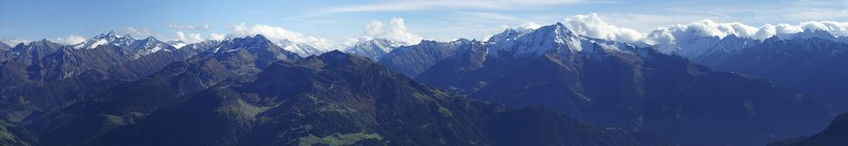 Zillertaler Alpen. View into the Zillertal Alps in Austria Stock Photography