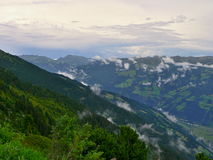 Zillertaler road-outlook on valley Zillertal Royalty Free Stock Photography