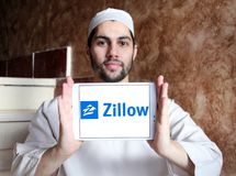 Zillow firmy logo Fotografia Stock