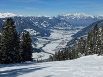 Zilltertal. A view into the Zillertal, Tirol, Austria Stock Images