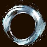 Zilver. Abstract ontwerpelement. Cirkelkader geschilderde wi Stock Fotografie