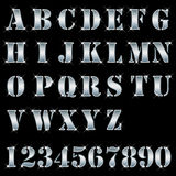 Zilver, brieven, alfabet, aantallen Royalty-vrije Stock Foto