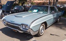 Zilver 1963 Ford Thunderbird Royalty-vrije Stock Afbeeldingen