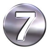Zilver Frame Nummer 7 royalty-vrije illustratie