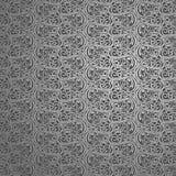 Zilver van de Vormyogyakarta van Elips van de behang het Abstracte Batik vector illustratie